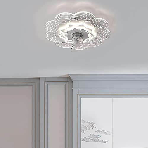 Ventilador de techo con luz y mando a distancia ventilador techo con luz silencioso 50CM*14CM ventilador de techo con luz led 58W lampara ventilador techo,A