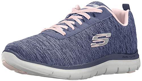 Skechers Flex Appeal 2.0, Zapatillas Mujer, Azul (Navy Nvy), 36.5 EU