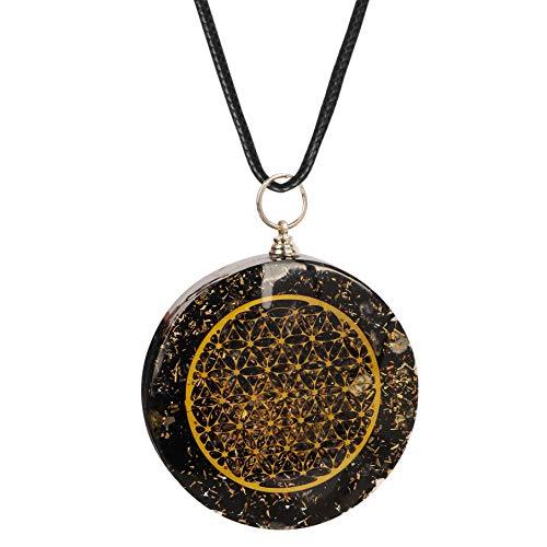 Shah Crafts Chakra Black Tourmaline Pendant Necklace | Healing Natural Crystal For Chakra Balancing | Emf protection Meditation And Yoga