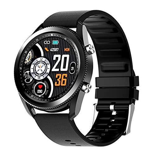 QFSLR Smartwatch Reloj Inteligente Hombre Relojes Deportivos con Monitor De Frecuencia Cardíaca Llamada Bluetooth Monitor De Presión Arterial Monitoreo De Oxígeno En Sangre,Negro