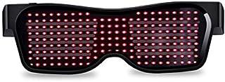 LED Bluetooth light glasses APP mobile phone connection control dynamic lighting multi-language bar nightclub electronic m...