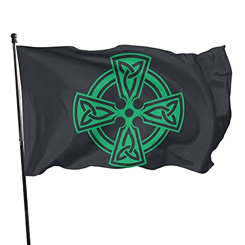 Wuyuhui Celtic Cross Knot Irish Shield Warrior Flag 3x5 FT Banner, Yard Flags Indoor Outdoor Decorative Home Fall Flags Holiday Decor