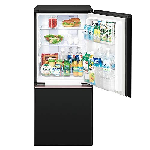 シャープSHARP冷蔵庫(幅48.0cm)137Lプラズマクラスター両開き2ドア(つけかえどっちもドア・ガラスドア)ピュアブラックSJ-GD14E-B