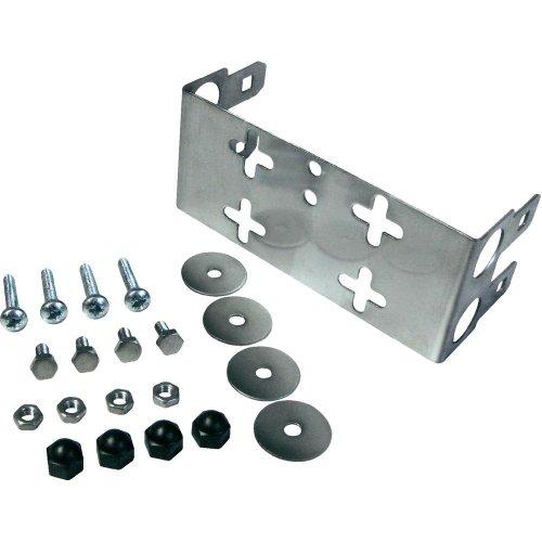 3M 79151058 LSA-Plus Montagewanne, 79151-533 00, Baureihe 2, Raster 25 mm, Tiefe 22 mm für 2 Leisten, Metal (10-er Pack)
