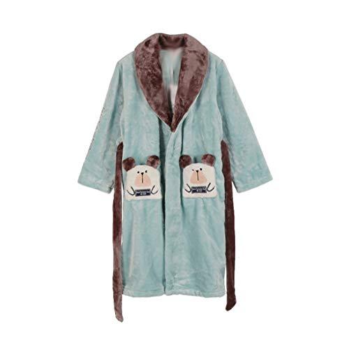 ECSWP MZWJTJKD Franela De Moda Batas De Baño para Niños Niños Suaves Ropa De Dormir Impresión Pijamas Coral Terciopelo Bañera (Size : 120cm)