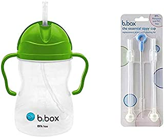 B. Box Essential Sippy Cup - with Replacement Straws and Cleaner (Apple)