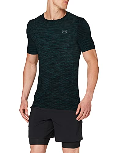 Under Armour Vanish Seamless SS Novelty Camiseta, Hombre, Verde (Batik/Pitch Gray 366), M