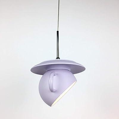 Rishx Moderno Cemento Creativo Restaurante Droplight Colgante de luz Lámpara de Noche Dormitorio Único Taza de