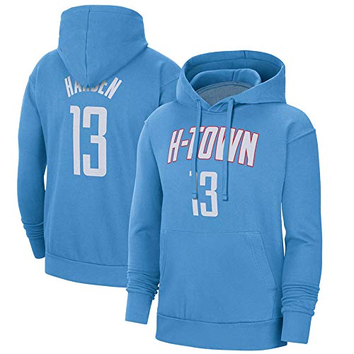 BMSD Hombres Hoodies Jersey Basketball NBA Rockets No. 13 Jersey Unisex Manga Larga Sport Pullover NBA Sudaderas Uniforme, XXL