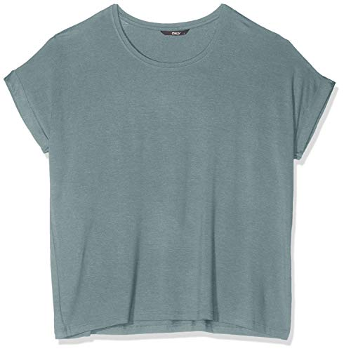 Only Onlmoster S/s O-Neck Top Noos Jrs Camiseta, Verde (Balsam Green), 40 (Talla del Fabricante: Large) para Mujer
