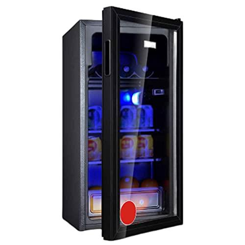 yunyun 98L Vinoteca,vinerafrigorifico para Vino Compresor Frigorifico Acabado De Espejo Panel Táctil Y Pantalla LED, Evita Vibraciones