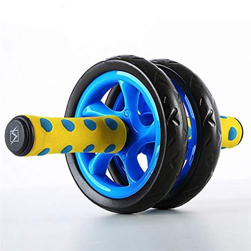 LZZJ AB Rodillos Fitness Músculo Equipo Equipo de Ejercicio Doble Rueda Abdominal Rueda AB Roller Gym Roller Trainer Home Entrenamiento (Color : Blue)