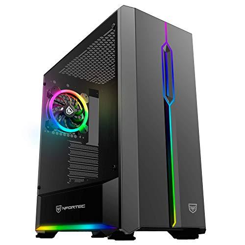 Nfortec Antares Torre Gaming Negra RGB (Cristal Templado)