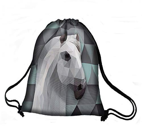 Arso - Zaino Alabaster, in tessuto Kodura, con motivo a cavallo, tasca interna impermeabile, colorato