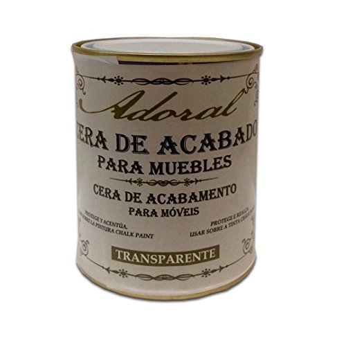 Adoral - Cera Chalk Paint de acabado para muebles 375 ml