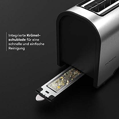 THOMSON-Toaster-Langschlitz-Einschlitz-Toaster-schmal-Toaster-mit-Kruemelschublade-und-Auftaufunktion-Kruemelschublade-Single-Toaster-Tischtoaster-aus-Metall-Toaster-Long-Slot-Silber
