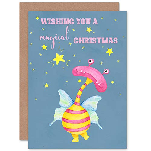 Photo of Wee Wild Monsters Ophelia Magical Christmas Sealed Greeting Card Plus Envelope Blank inside