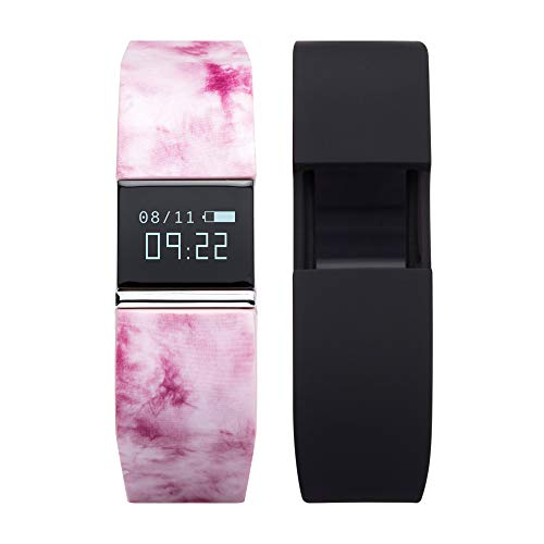 iTouch iFITNESS Perfect Activity Pedometer Wireless Smart Band Watch: Blush Printed and Black