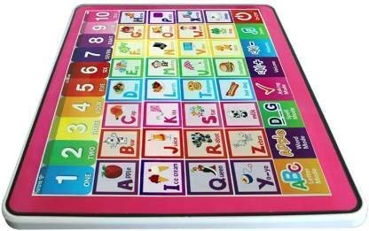 DIGIDEAL Educational Smart y pad English Computer Learning Education Machine Multi Function Touch Screen Tablet for Kids (Multi-Color)- Multi Color