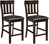 Signature Design by Ashley Haddigan Counter Height Bar Stool, Dark Brown