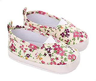 Mix & Max Floral Pattern Elastic-panel Shoes for Girls - Multi Color, 12-18 Months