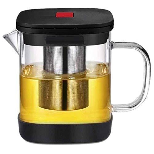 Zoo-Yilchu Tetera, Transparente de Vidrio Cuadrado Tetera con el Sistema de Herramienta de la Tetera de Acero Inoxidable colador de té Infuser de Calor