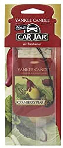 YANKEE CANDLE Coche ambientador de Aire de arándanos y Peras, cartón, Rojo, 7.9x19.7x0.7 cm