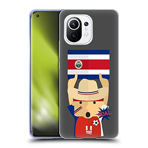 Head Case Designs Costa Rica Entusiasta del Fútbol Carcasa de Gel de Silicona Compatible con Xiaomi Mi 11
