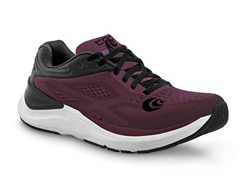 Topo Athletic Women's Ultrafly 3 Breathable Road Running Shoes, Wine/Black, Size: 7 (W038-070-WINBLK)