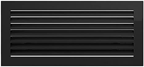 Kratki rejilla de Fresh 17 cm x 37 cm color negro ,rejilla de ventilación