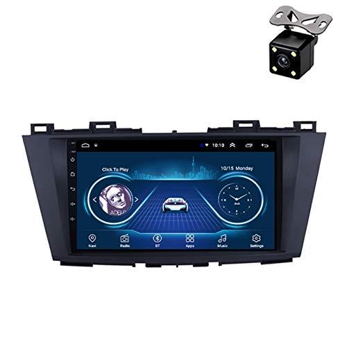 PLOKM Android Autoradio Radio Coche Bluetooth con 9 Pulgadas 1080p Radio De Coche WiFi USB Unidad Principal y Marco para Mazda 5 2010-2015
