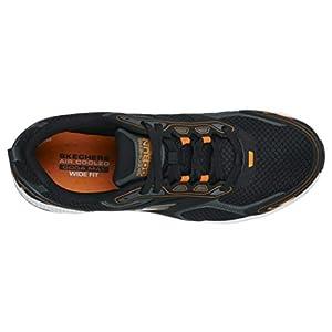 Skechers mens Go Run Consistent - Performance Running & Walking Shoe Sneaker, Black/Orange, 10 US