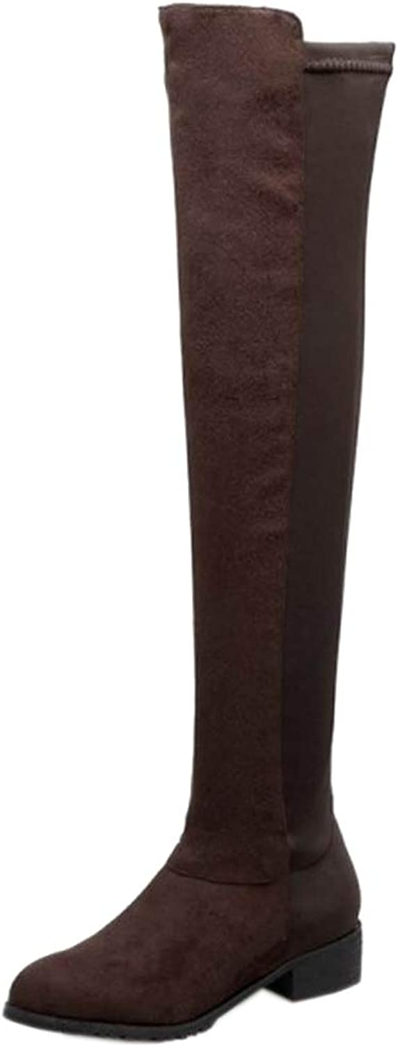 Lydee Women Fashion Low Heel Over The Knee Boots