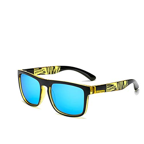 Gafas de Sol Sunglasses Gafas De Sol Polarizadas para Hombre Gafas De Sol Polarizadas para Hombre Diseño Clásico Espejo Cuadrado para Mujer C5Anti-UV