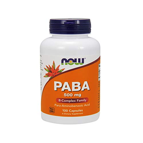 NOW Foods Paba, 500 Mg 100 Unidades 100 g