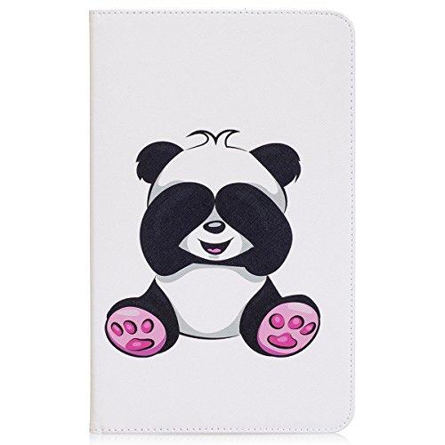 Ekakashop Compatible avec Coque Galaxy Tab A 10.1 Shell Clapet Populaire,Jolie Panda Géant Motif Housse de Protection Tablette à Rabat Magnétique Compatible avec Samsung Galaxy Tab A 10.1 T580 T585
