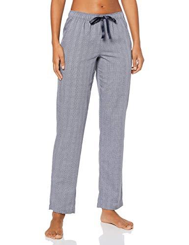 Schiesser Damen Mix & Relax Webhose lang' Schlafanzughose, Blau (Nachtblau 804), 42 (Herstellergröße:042)