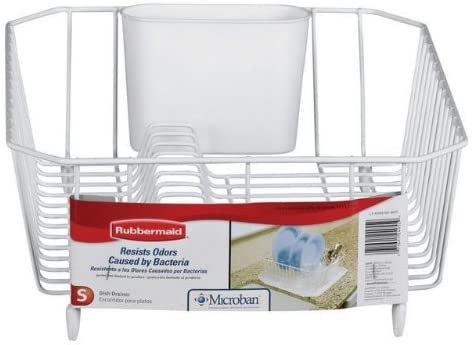 Rubbermaid 6008ARWHT White Twin Max 59% OFF Sink Drainer New York Mall Dish