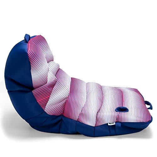 Big Joe Romm Mesh Roma Chair Float, Faded Stripe Fuschia