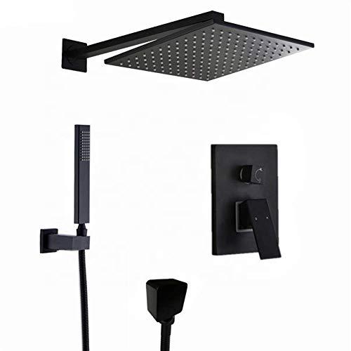 CENPEN Juego de ducha de mano con cabezal de ducha montado en la pared, mezclador de dirección de mano, 25,4 cm duradero (tipo grifo de baño y ducha: 10 pulgadas)