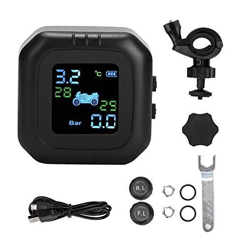 Sensor de presión de neumáticos - Sistema inalámbrico de monitorización de presión de neumáticos Tpms de la motocicleta Sensores externos Lcd