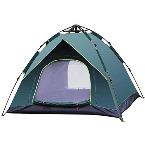 Tente 3-4gens,Le Sexe Entièrement Automatique Ouverture Rapide Couche Double Camping Protection Solaire Compte-B-Vert