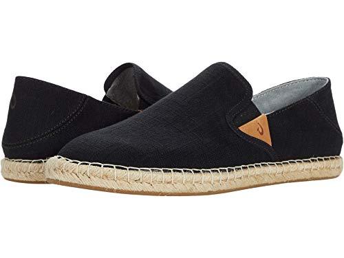 OLUKAI Kaula Pa'a Kapa Women's Espadrilles, Linen Slip-On Shoes with Lightweight Drop-in Heel Design, Braided Water-Resistant Jute & Wet Grip Soles