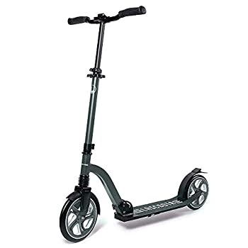 Lascoota Scooters for Kids 8 Years and up - Quick-Release Folding System - Front Suspension System + Scooter Shoulder Strap 7.9  Big Wheels Great Scooters for Adults and Teens  Grey Premium Adult