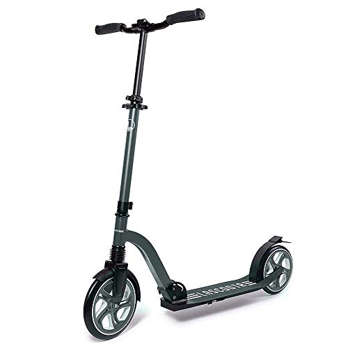 Lascoota Scooters for Kids 8 Years and up - Quick-Release Folding System - Front Suspension System + Scooter Shoulder Strap 7.9' Big Wheels Great Scooters for Adults and Teens (Grey, Premium Adult)