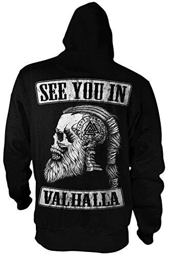 See You IN Valhalla Herren Hoodie | Thor | Vikings Shirt | Ragnar | Rising | Walhalla | Wodan | Wikinger | Valknut | Odin | Männer Kapuzen-Sweatshirt | Pullover
