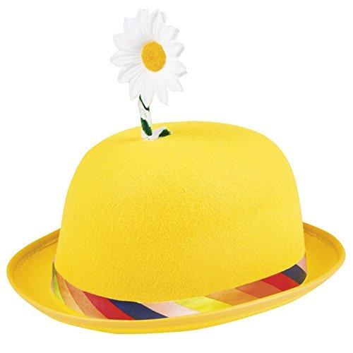 Boland 04032 - Hut Diasy, bunt, aus Filz, Blume, Clown, Gärtner, Karneval, Halloween, Fasching, Mottoparty, Verkleidung, Theater, Accessoire