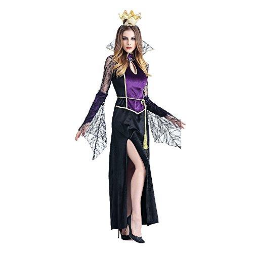 GOKOMO Halloween Vampir Cosplay Damen Cosplay Damen Kleid Terrorist KostüM Damen Rollenspiele Sex KostüM(Schwarz-b,Medium)