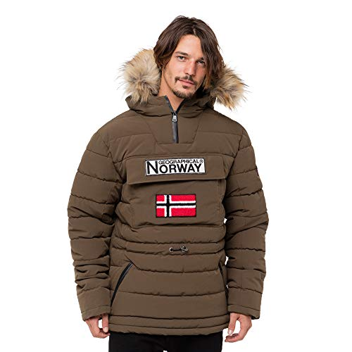 Geographical Norway Casimire, Parka para Hombre, Verde (Kaki), X-Large (Tamaño del fabricante:XL)