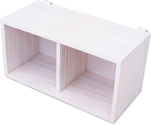オスマック すのこに掛けられる家具 箱 2マス ホワイト KB-2W 1コ入